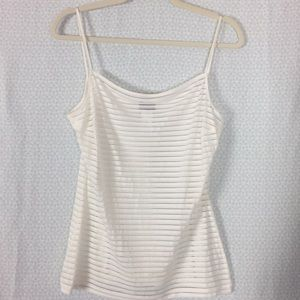 Kenzo NWOT See Through White Spaghetti Strap Tank